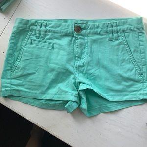 Express teal shorts